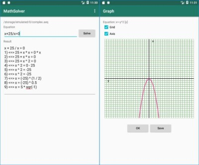 Alternate MathSolver Android